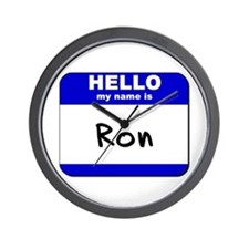 hello my name is ron  Wall Clock