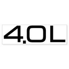 4.0 Litre Bumper Sticker