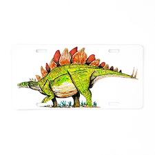 Stegosaurus Aluminum License Plate