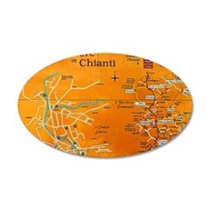 Grapes of Chianti 35x21 Oval Wall Decal