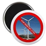 "No Wind Turbines 2.25"" Magnet (100 pack)"