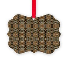 Black and Gold Paisley Ornament