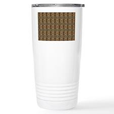 Black and Gold Paisley Travel Coffee Mug