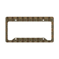 Black and Gold Paisley License Plate Holder