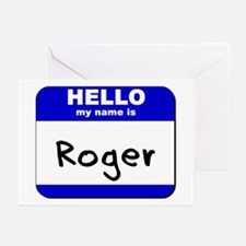 hello my name is roger  Greeting Cards (Package of