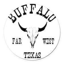buffalo Round Car Magnet