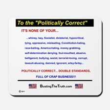 Anti-Political Correctness - Mousepad