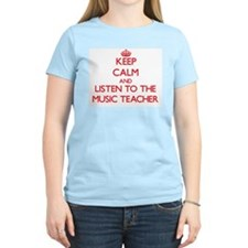 Keep Calm and Listen to the Music Teacher T-Shirt