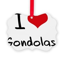I Love Gondolas Ornament