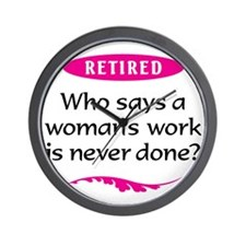 Woman Retirement Wall Clock