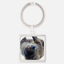 Sloth Round Cocktal Plate Square Keychain