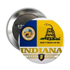 "Indiana Gadsden Flag 2.25"" Button"