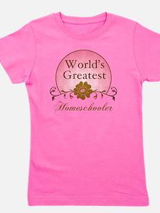 Worlds Greatest Homeschooler (For Her) Girl's Tee