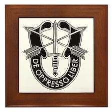 Special Forces Crest Framed Tile
