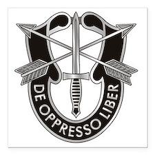 "Special Forces Crest Square Car Magnet 3"" x 3"""