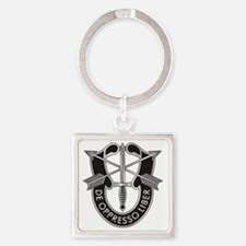Special Forces Crest Square Keychain