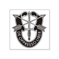 """Special Forces Crest Square Sticker 3"""" x 3"""""""
