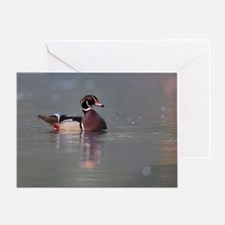 Wood Duck Portrait Greeting Card