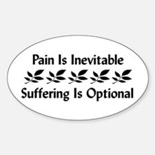 Pain Is Inevitable Oval Decal