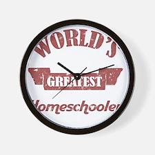 Worlds Greatest Homeschooler (For Dads) Wall Clock