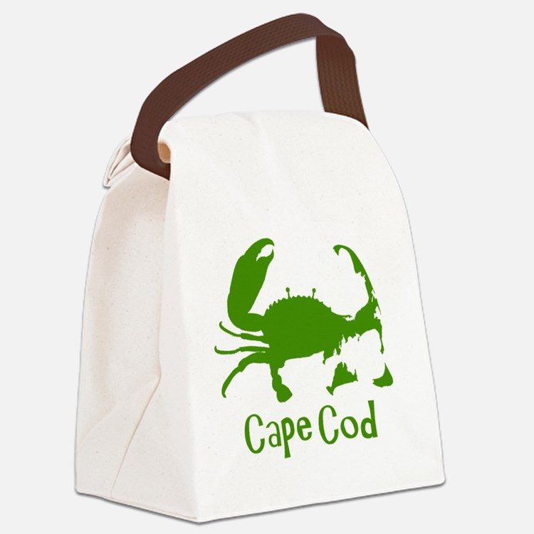 Green Crab, Kids Solid Canvas Lunch Bag