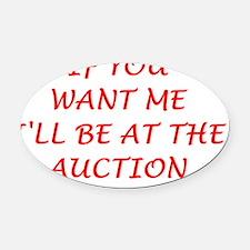 auction Oval Car Magnet