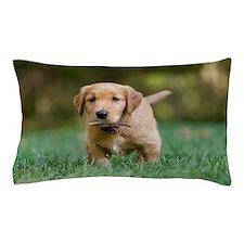 Puppy-Golden Retriever Pillow Case