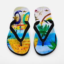 Mermaids Tiki Bar Flip Flops