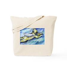 Wheaten Terrier Angel Flys free Tote Bag