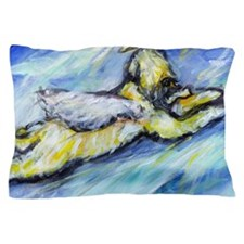Wheaten Terrier Angel Flys free Pillow Case