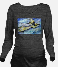 Wheaten Terrier Angel Flys free Long Sleeve Matern
