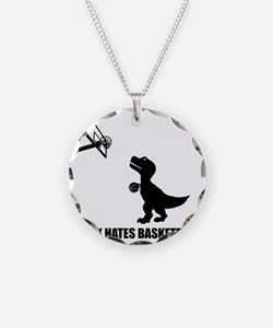 T-Rex Hates Basketball-1 Necklace