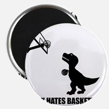 T-Rex Hates Basketball-1 Magnet