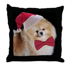 Santa Pom Throw Pillow