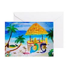 Mermaids Tiki Bar Greeting Card