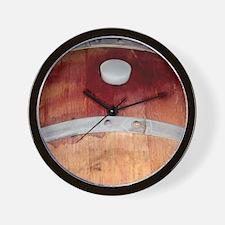 Oak Barrel Wall Clock