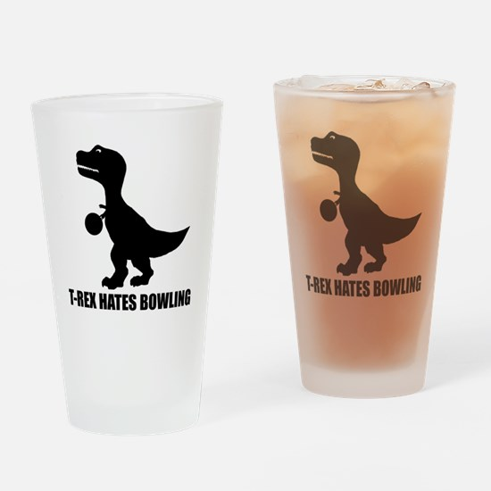 T-Rex Hates Bowling-1 Drinking Glass