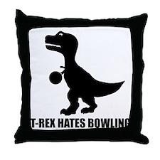 T-Rex Hates Bowling-1 Throw Pillow