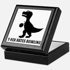 T-Rex Hates Bowling-1 Keepsake Box