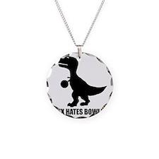 T-Rex Hates Bowling-1 Necklace