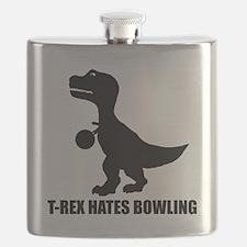T-Rex Hates Bowling-1 Flask