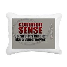 Common Sense Rectangular Canvas Pillow