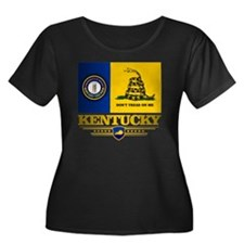 Kentucky Women's Plus Size Dark Scoop Neck T-Shirt