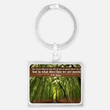 The Great thing in this life Landscape Keychain