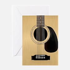 Acoustic Guitar Square Greeting Card