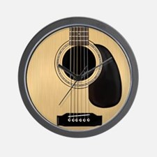 Acoustic Guitar Square Wall Clock