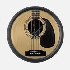 Acoustic Guitar Square Large Wall Clock