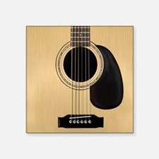 "Acoustic Guitar Square Square Sticker 3"" x 3"""