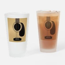 Acoustic Guitar Square Drinking Glass
