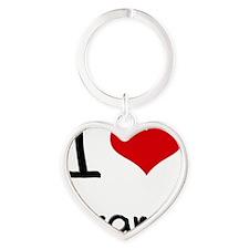 I Love Grams Heart Keychain